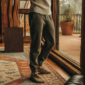 The Fillmore Pant in Dark Olive Terry: Alternate Image 4