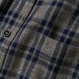 material shot of front pocket