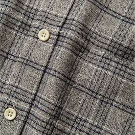 material shot of buttons and front pocket