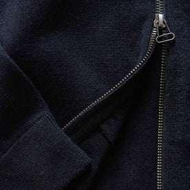 material shot of bottom zip