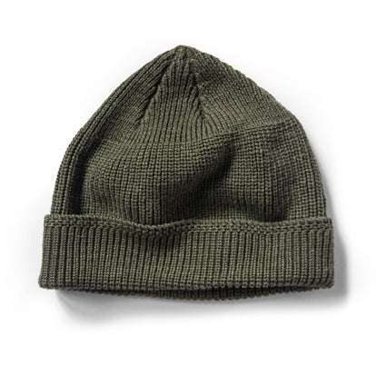The Rib Beanie in Forest Heather