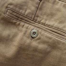 back pocket material shot