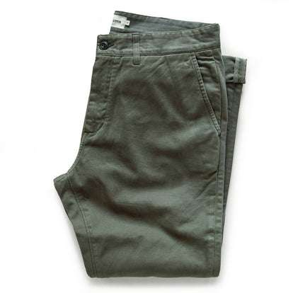 The Slim Foundation Pant in Organic Olive