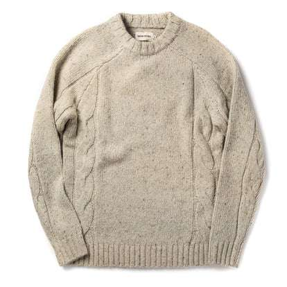 The Topside Sweater in Natural Cable Knit