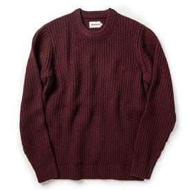 flatlay of The Wharf Sweater in Burgundy