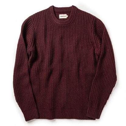 The Wharf Sweater in Burgundy