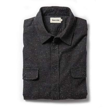 The Yosemite Shirt in Charcoal Donegal