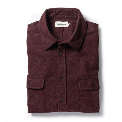 The Yosemite Shirt in Nutmeg Donegal