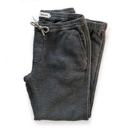 The Après Pant in Charcoal Sashiko