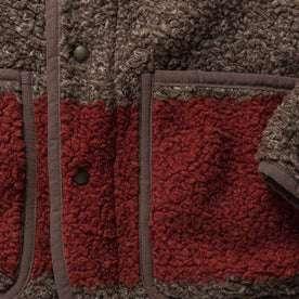 material shot of red detailing