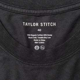 material shot of taylor stitch logo
