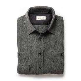 folded flatlay of The Service Shirt in Ash Melange Wool