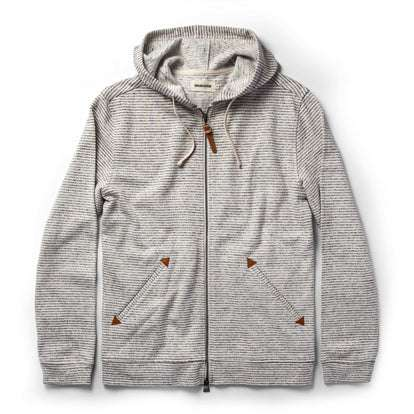 The Après Hoodie in Natural Hemp Stripe