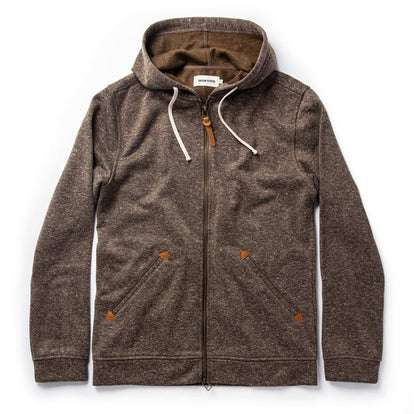 The Après Hoodie in Olive Hemp Donegal