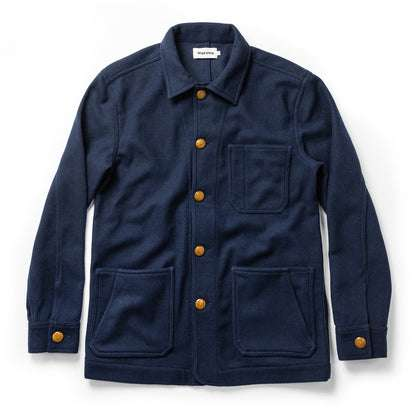 The Ojai Jacket in Navy Boiled Wool