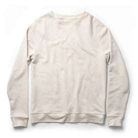 The Crewneck in Natural Donegal Terry: Featured Image