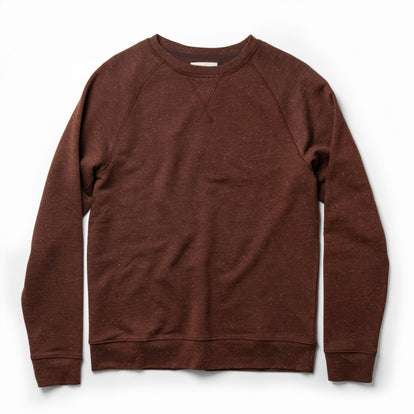 The Crewneck in Rust Donegal Terry