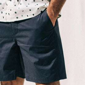 our fit model wearing The Adventure Short in Navy