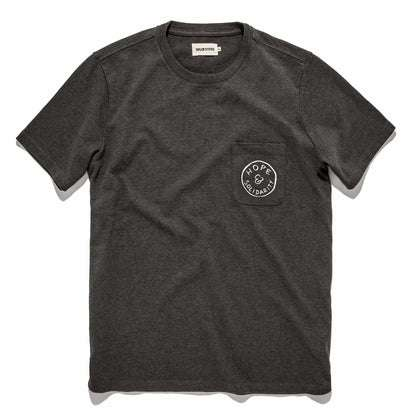 The Hope & Solidarity <br> Heavy Bag Tee in Heather Grey