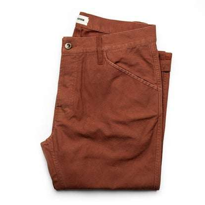 The Camp Pant in Rust Reverse Sateen