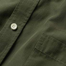 material shot of the button and pocket