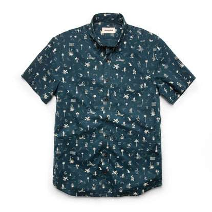The Short Sleeve Jack in Navy Aloha