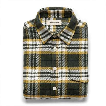 The Crater Shirt in Green Plaid