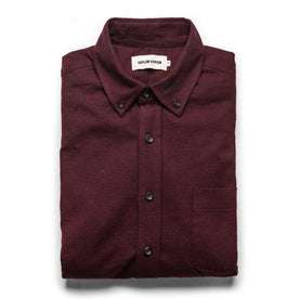 The Jack in Maroon Brushed Oxford: Featured Image