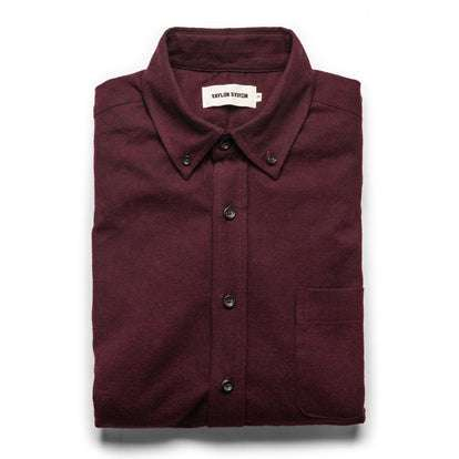 The Jack in Maroon Brushed Oxford