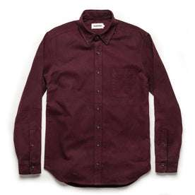 The Jack in Maroon Brushed Oxford: Alternate Image 9
