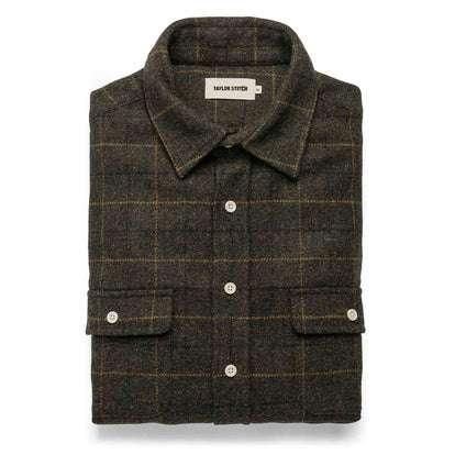 The Leeward Shirt in Olive Plaid