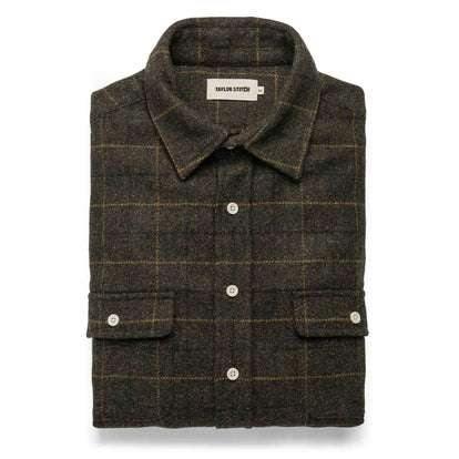 The Leeward Shirt in Olive Plaid