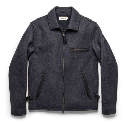 The Monterey Bomber in Navy Wool