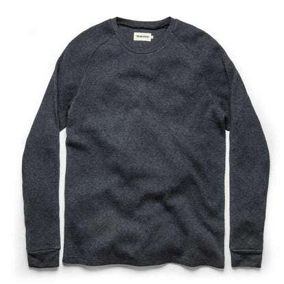 The Heavy Bag Waffle Long Sleeve in Navy