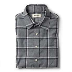 The California in Navy Salt and Pepper Plaid: Featured Image