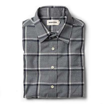 The California in Navy Salt and Pepper Plaid