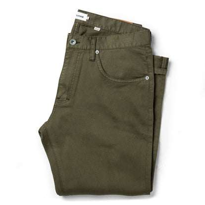 The Democratic All Day Pant in Olive Bedford Cord