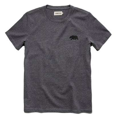 The Embroidered Heavy Bag Tee in Grey Bear
