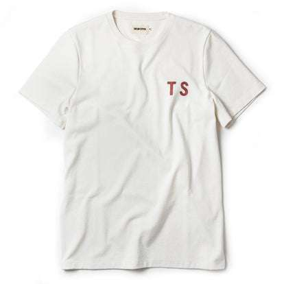 The Embroidered Heavy Bag Tee in Natural TS