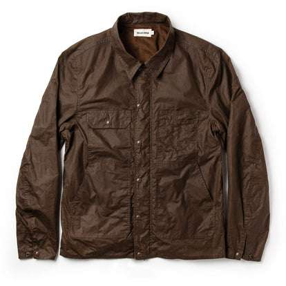 The Longshore Jacket in Dark Oak Waxed Canvas