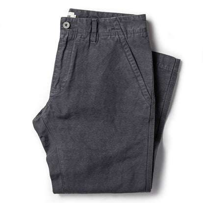 The Morse Pant in Charcoal Slub Linen