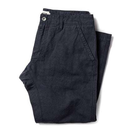 The Morse Pant in Navy Slub Linen