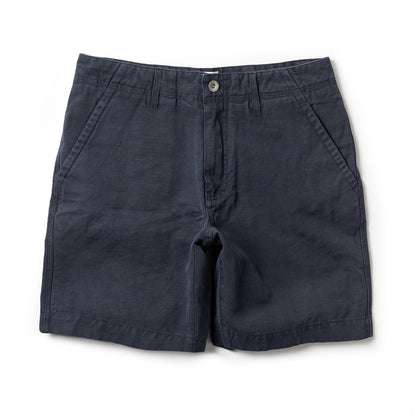 The Morse Short in Navy Slub Linen