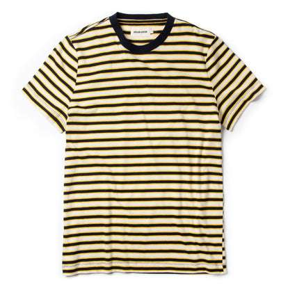 The Organic Cotton Tee in Gold Stripe