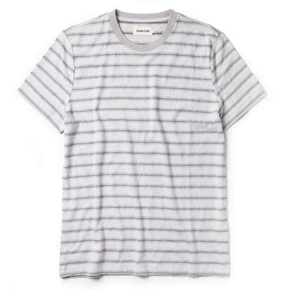 The Organic Cotton Tee in Graphite Stripe