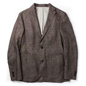 flatlay of The Sheffield Sportcoat in Cocoa Linen