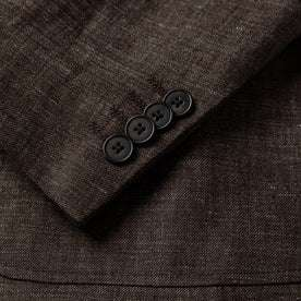 material shot of buttons on sleeve