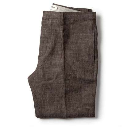 The Sheffield Trouser in Cocoa Linen