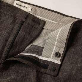 material shot of zipper opening