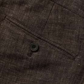material shot of button on pocket